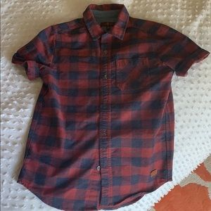 Boys size Small 7 For all mankind check shirt